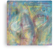 Color Splatter and Blast Pattern Canvas Print
