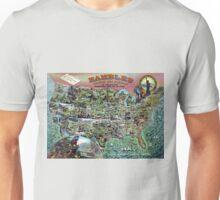 Vintage United States Map Rambles Travel Unisex T-Shirt
