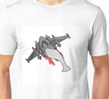 Jet Powered Shark Unisex T-Shirt