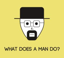What does a man do? Kids Tee