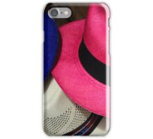 Pink Blue and White Hats iPhone Case/Skin