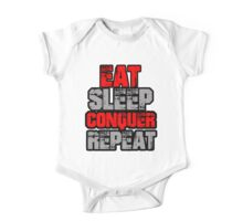 Eat Sleep Conquer Repeat One Piece - Short Sleeve