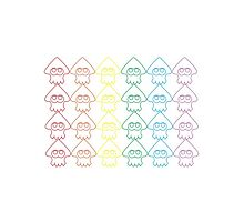 Rainbow Squid Pattern by aestheticmemes