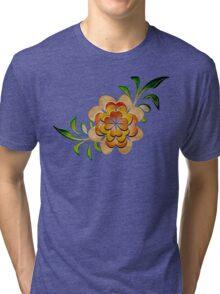 Tonal Flowers Tri-blend T-Shirt
