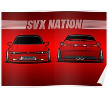 Red SVX Nation Time Attack Poster