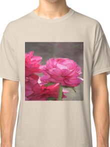 Pink Roses on Canvas Classic T-Shirt