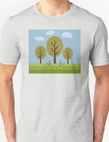 Cute Raccoons and Apple Trees T-Shirt