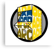 Armor Upgrade Arcade Logo Canvas Print