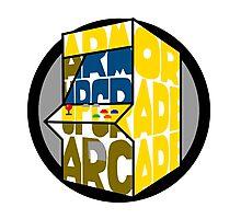 Armor Upgrade Arcade Logo Photographic Print
