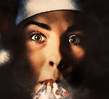 Smoking Santa Girl by Ryan Jorgensen