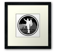 .the truth is out there. Framed Print