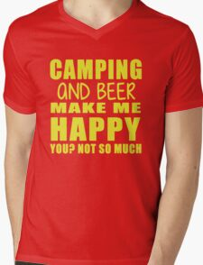 Camping And Beer Make Me Happy Mens V-Neck T-Shirt
