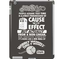Doctor who Time-Y Wimey T-shirt iPad Case/Skin