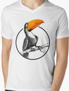 The Brilliant Toucan Mens V-Neck T-Shirt
