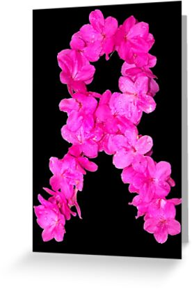 Azalea Flower Arrangement Photo Breast Cancer Awareness Ribbon by BamaBruce69