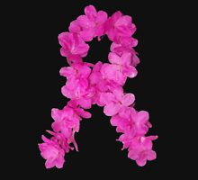Azalea Flower Arrangement Photo Breast Cancer Awareness Ribbon Unisex T-Shirt