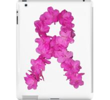 Azalea Flower Arrangement Photo Breast Cancer Awareness Ribbon iPad Case/Skin