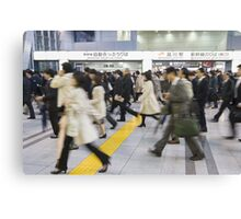 Japanese Hustle and Bustle Canvas Print