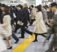 Japanese Hustle and Bustle Sticker