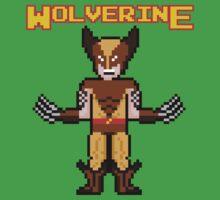 8Bit Wolverine (Brown) One Piece - Short Sleeve