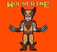 8Bit Wolverine (Brown) Kids Tee