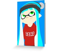 Splatoon - Inkling girl Greeting Card