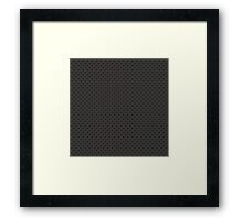 Carbon fibre - copper wire reinforcing Framed Print