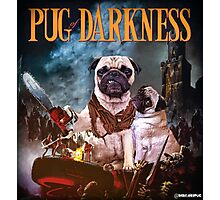 Pug of Darkness Photographic Print