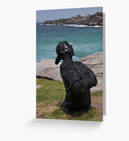 Youth  With Attitude,Sculptures By Sea,Australia 2015 Greeting Card