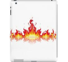 Flames Mirrored iPad Case/Skin