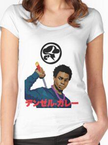 Denzel Black Samuri Curry Women's Fitted Scoop T-Shirt