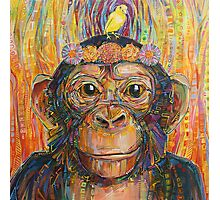Intuition (The chimpanzee and the canary) painting - 2016 Photographic Print
