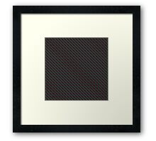 Carbon fibre - red wire reinforcing Framed Print