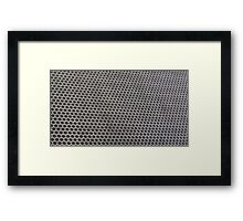 Hexagon mesh 2 - positive Framed Print