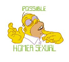 Possible Homersexual Photographic Print