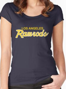 Los Angeles Blue & Yellow Football Team Starter Women's Fitted Scoop T-Shirt