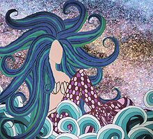 Midnight Blue Mermaid by artlovepassion