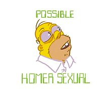 POSSIBLE HOMERSEXUAL (no hands) Photographic Print