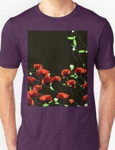 poppy art work Unisex T-Shirt