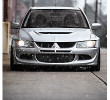 2004 Evo 8 in the snow Photographic Print
