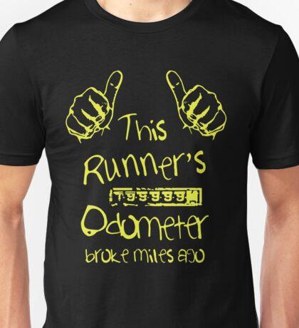 Runner's Broken Odometer Unisex T-Shirt