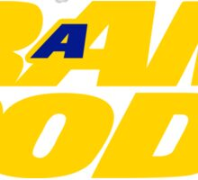 LA Ram Rods Podcast 1990s Logo Sticker