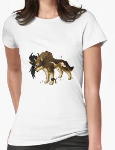 Link and Midna  Womens Fitted T-Shirt