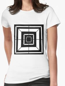 Square Bulls-eye  Womens Fitted T-Shirt