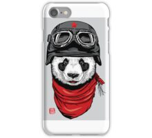 Biker Panda  iPhone Case/Skin