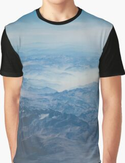 Aerial Mountain View Nature Fine Art Photography 0045 Graphic T-Shirt