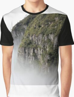Cloudy Valley Mountain Forest Nature Fine Art Photography 0046 Graphic T-Shirt