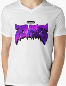 Flatbush Zombies Purple Galaxy Mens V-Neck T-Shirt