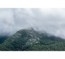 Cloudy Foggy Mountain Forest Nature Fine Art Photography 0048 Photographic Print