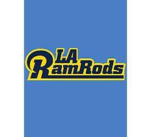 LA Ram Rods Podcast Modern Logo - Modern Blue Photographic Print